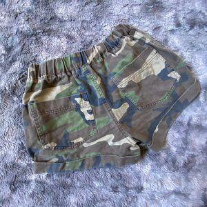 Forever 21 Camo Denim Shorts